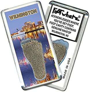 product image for Wilmington, NC FootWhere Souvenir Fridge Magnet. Made in USA (WLM206 - Waterfront)