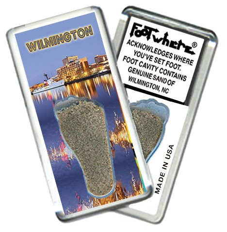 Wilmington, NC FootWhere Souvenir Fridge Magnet. Made in USA (WLM206 - - Shops In Waterfront