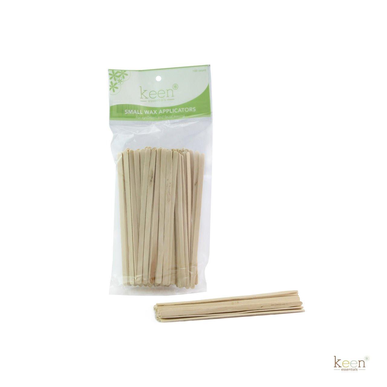 KEEN 100 pcs Small Wooden Sticks Wax Applicators, Coffee Stir sticks, Crafts KEEN ESSENTIALS