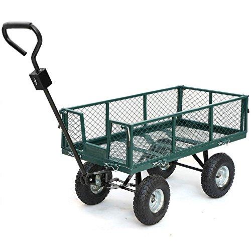 Gotobuy Green Garden Utility Cart Wagon Steel (800 Lb Capacity)