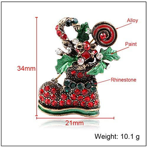 YYOGG Brooch Europe and The United States Popular Boots Clothing Creative Christmas Shoes Brooch