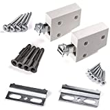 5 x SO-TECH Cabinet Suspension Brackets COMPLETE SET white Wall Holder Cabinet Mounting Support Load Capacity 80 kg