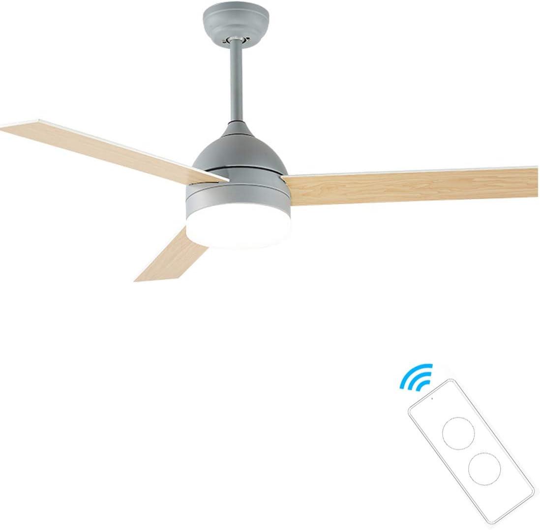 Ventilador de Techo 107 cm de Diámetro, 3 Aspas, 3 Velocidades, Dimable 2700K-5000K Iluminación interior Plafón con ventilados