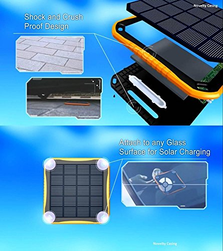 Extreme ECO Solar CAT S60 SmartPhone Window/Travel Rapid Charger Power Bank! (2.1A/5600mah) by Mobile Power (MP) (Image #1)