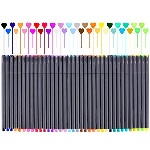 Fineliner Color Pen Set, Fine Line Point Drawing Marker Pens for Writing Journaling Planner Coloring Book Sketching Taking Note Calendar Art Projects Office School Supplies (36 Colors)