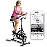 fitbill Smart Exercise Bike with Speed Sensor, Bluetooth Scale & Free Workout App – Indoor Cycling Training, Upright Stationary Bike