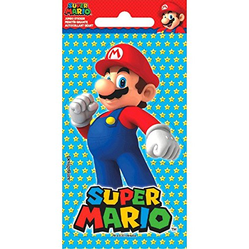 Super Mario Brothers Jumbo Sticker | Party Favor ()