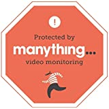 Manything - CCTV Warning stickers - Home Protected by the Manything Video Monitoring App. (2PK)