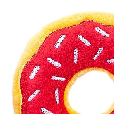 ZippyPaws Donutz Squeaky Plush No-Stuffing Dog Toy