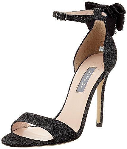 SJP by Sarah Jessica Parker Encore BIS, Sandali con Cinturino Alla Caviglia Donna Nero (Doozy Black Glitter)