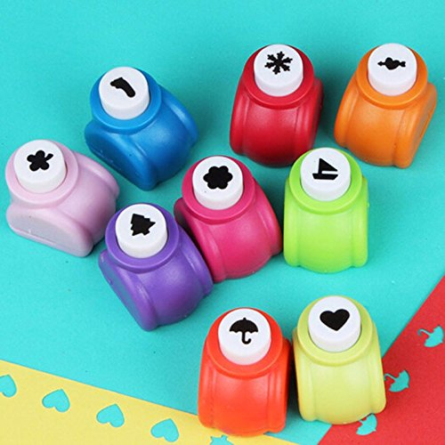 9PCS Christmas tree and Snowflake Shape Mini Paper Craft Punch Shaper Punch Mini Handmade Hole Puncher Kids Craft DIY Handmade Hole Puncher for Festival Papers or Greeting Card (Punch Shaper Craft Paper)