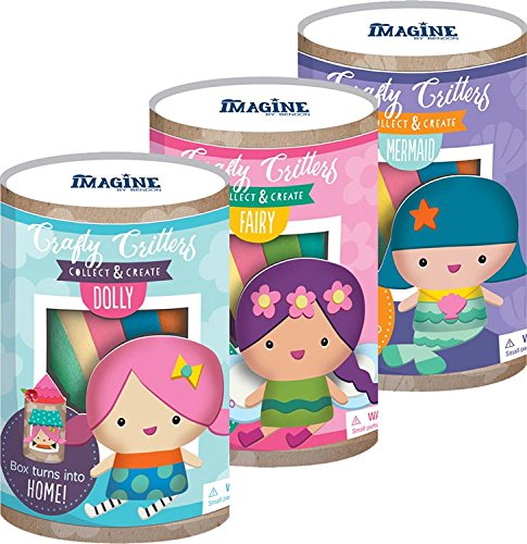 Crafty Critters - Bendon 41477 Crafty Critters Make Your Own Doll Kit, Assorted