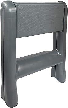 QFF Lavado de coches de plástico plegable, dos pasos Mini Escalera fotografía al aire libre Escalera Portátil supermercado Escabel escalera completamente aislado doblez (Color : 49 * 49 * 58cm): Amazon.es: Bricolaje y herramientas