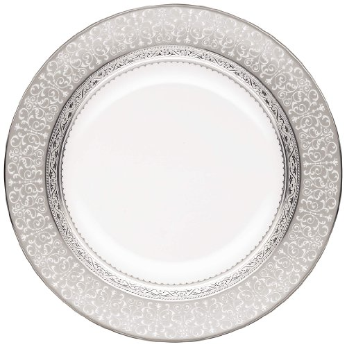 - Noritake Odessa Accent Plate, 9-Inch, Platinum