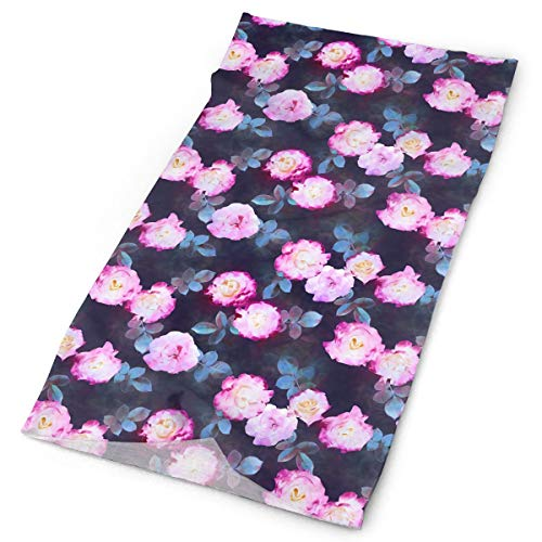TPSXXY Roses Botanical Painted Floral Face Mask Neck Gaiter Sun Shade Shield Bandanas for Dust Outdoors Sports Festivals -
