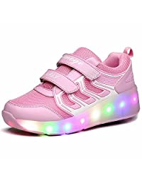 K-SEVEN Kids Roller Shoes Flashing Skate Sneaker with Wheels for Children Youth