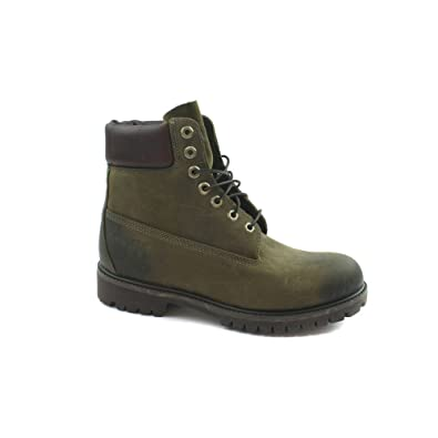 release date 100% quality new arrival Mens Timberland 6 inch Premium Distressesd Dark Olive Boots ...