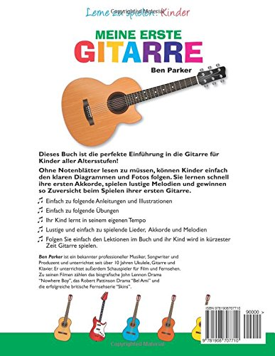 Meine erste Gitarre - Lerne zu spielen: Kinder (German Edition): Ben ...