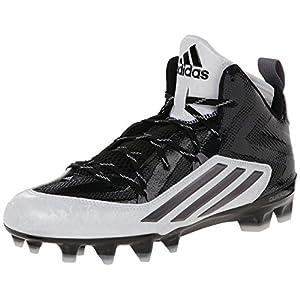 adidas Performance Men's Crazyquick 2.0 Mid Football Cleat, Black/Titanium, 11.5 M US
