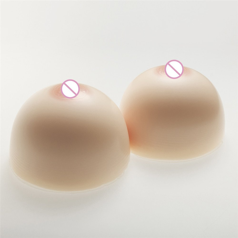 ZHS Circular Huge Silicone Breast Form White 3600g/Pair Drag Queen Shemale Fake Boobs Crossdressing Transvestite Artificial Breast