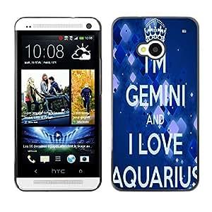 - Aquarius Constellation - - Monedero pared Design Premium cuero del tir¨®n magn¨¦tico delgado del caso de la cubierta pata de ca FOR HTC 801e HTC One M7 Funny House