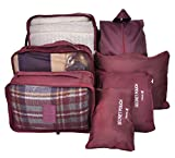 7 Set Travel Cubes,5 Colors Waterproof Mesh Durable