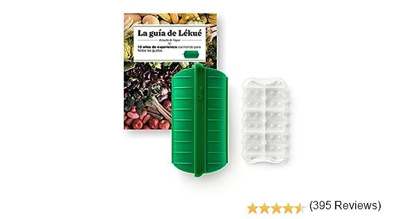 Compra Lekue - Estuche de vapor, Con bandeja y libro en Español, Verde esmeralda, 1 - 2 personas (650 ml) en Amazon.es