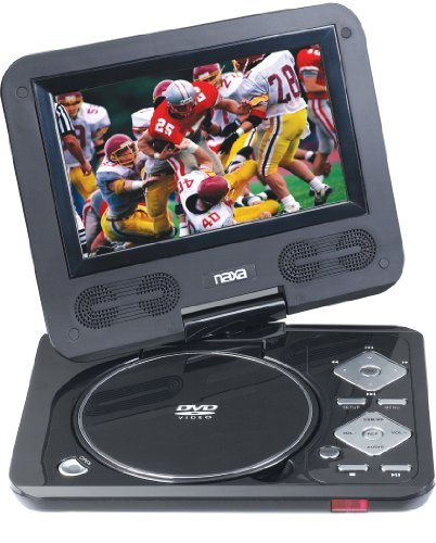 Naxa NPD-702 7-Inch TFT LCD Swivel Screen Portable DVD Playe