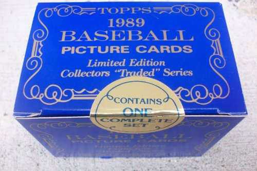 Topps Traded Factory - 1989 Topps Tiffany Traded Factory Sealed Set 132 Cards Ken Griffey Jr, Randy Johnson Rookies