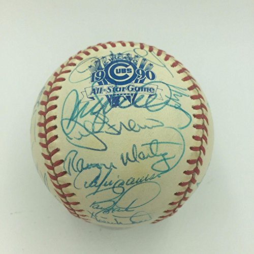 1990 Wrigley Field All Star Game Team Signed Baseball Ryne Sandberg 32 Sigs - JSA Certified - Autographed Baseballs 1990 Mlb All Star Game