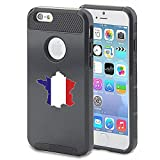 Apple iPhone 5 5s Shockproof Impact Hard Case Cover France French Flag (Black )