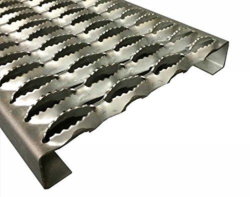3342010-60 Grip Strut Channel Aluminum 4-Diamond Plank Safety Grating, 60' Length x 9-1/2' Width x 2' Depth