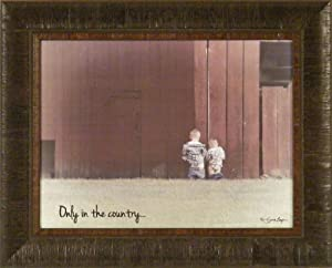 Amazon Com Only In The Country By Susie Boyer 17x21 Boys