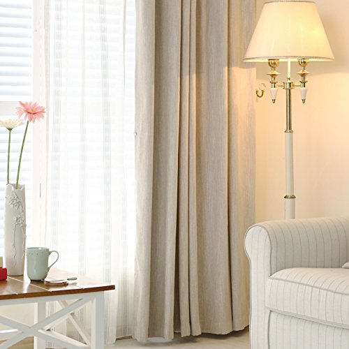 Melodieux Texture Blackout Insulated Curtains