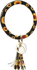 Timetries Keyring Bracelets Wristlet Keychain Bracelet Circle Key Ring Bangle Key Ring Chain for Women
