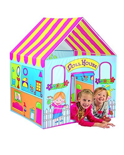 (Kids doll house play tent hut children pretend play house dollhouse portable indoor outdoor boy girl Holiday Gift)