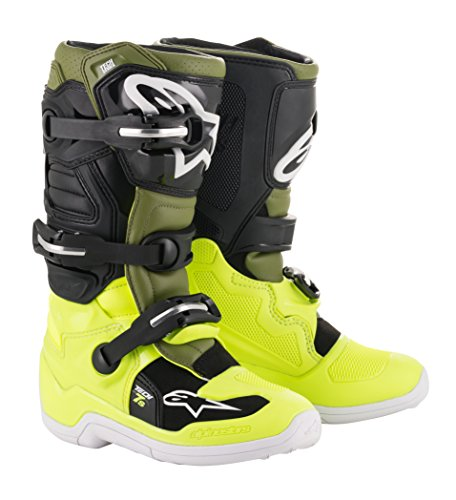 Tech 7S Youth Off-Road Motocross Boot (3 US, Yellow Fluo Military Green Black) ()