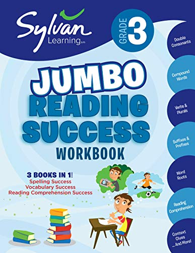 3rd Grade Jumbo Reading Success Workbook: Activities, Exercises, and Tips to Help Catch Up, Keep Up, and Get Ahead (Sylvan Language Arts Jumbo Workbooks) -