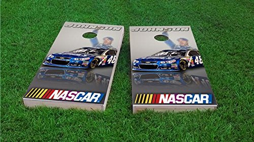 Jimmie Johnson Cornhole Set, 2x4, ACA Regulation Jimmie Johnson Bean Bag