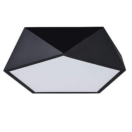 info for ed407 10e47 Lanros Matt Black Flush Mount Light Fixture, 16W, Warm White 3000K, 16.14
