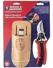 Spear & Jackson Razorsharp Professionele Heavy Duty Bypass snoeischaar en lederen Holster Set
