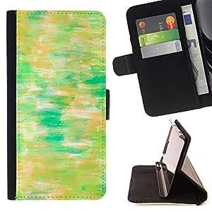 Green Watercolor Lake Nature Painting - Modelo colorido cuero de la carpeta del tirón del caso cubierta piel Holster Funda protecció Para Apple (4.7 inches!!!) iPhone 6 / 6S