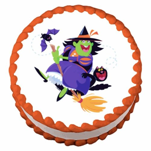 Halloween Witch, Edible Cake / Cupcake Topper