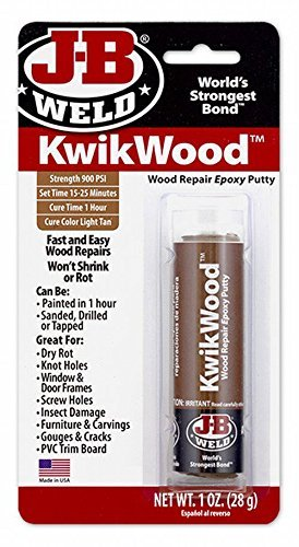 J-B Weld KwikWood Wood Repair Epoxy Putty – 1 oz