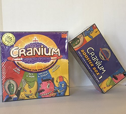 Cranium Board Game & 800 Cards Booster Box 1 by Cranium ( 2 Items) by Cranium