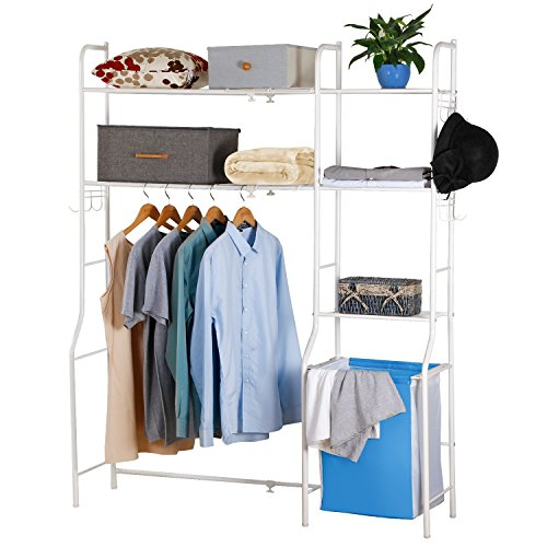 lifewit expandable closet rack organizer free standing import it all. Black Bedroom Furniture Sets. Home Design Ideas