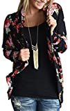 EachEver Women Casual Long Sleeve Floral Printed Open Front Cardigan Outwear