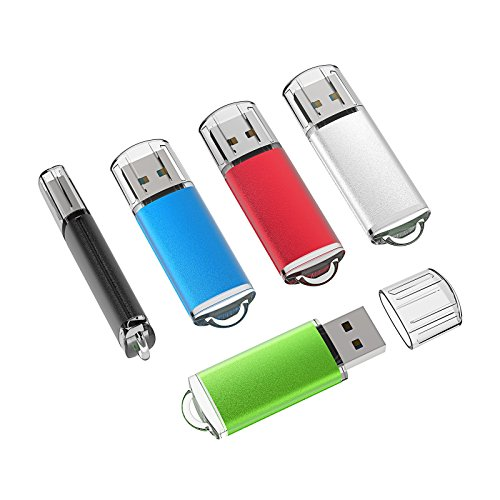 Image of TOPESEL 5 Pack 16GB USB 2.0 Flash Drive Memory Stick Thumb Drives (5