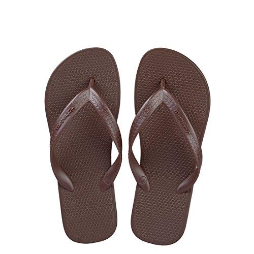 Hotmarzz Chanclas para Mujer Planas Sandalias Verano Playa Zapatillas Piscina Flip Flops Café