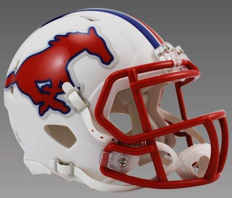 (Riddell NCAA SMU Mustangs Speed Mini Football Helmet)